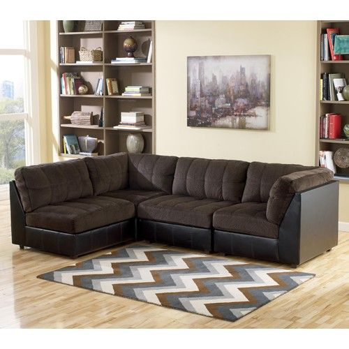 Sofa Tables Ashley Signature Design Hobokin Chocolate Contemporary Piece Sectional with Right Side LAF RAF Wholesale FurnitureCorner