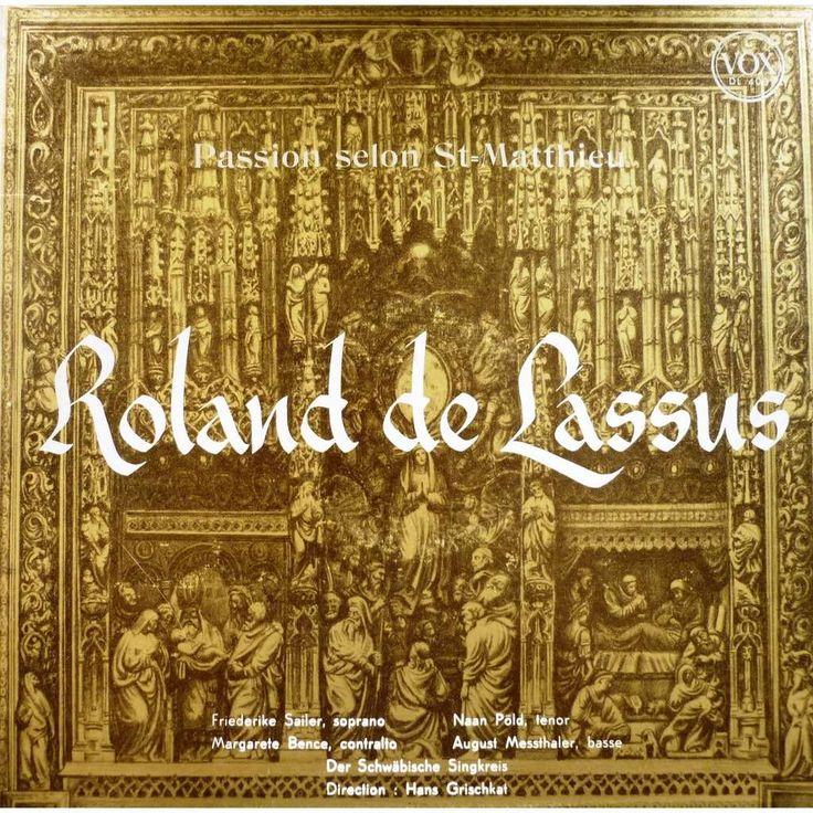 Lassus, Orlande de (1532-1594) PASSION SELON SAINT MATTHIEU LP