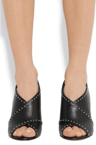 Givenchy - Stud-embellished Leather Sandals - Black - IT
