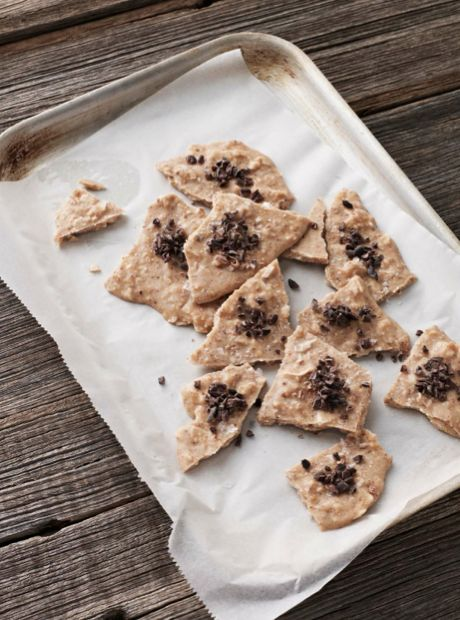 This #almond butter bark is a great substitute for salted caramel - even hardened critics will be blissfully surprised - I Quit Sugar
