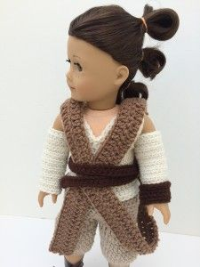 Star Wars Rey costume crochet for American Girl Doll - fun idea!