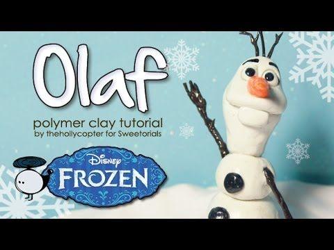 Polymer Clay Tutorial: Olaf the Snowman - YouTube