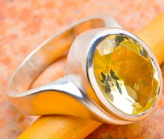 Hey, I found this really awesome Etsy listing at https://www.etsy.com/listing/171021511/faceted-citrine-sterling-silver-ring
