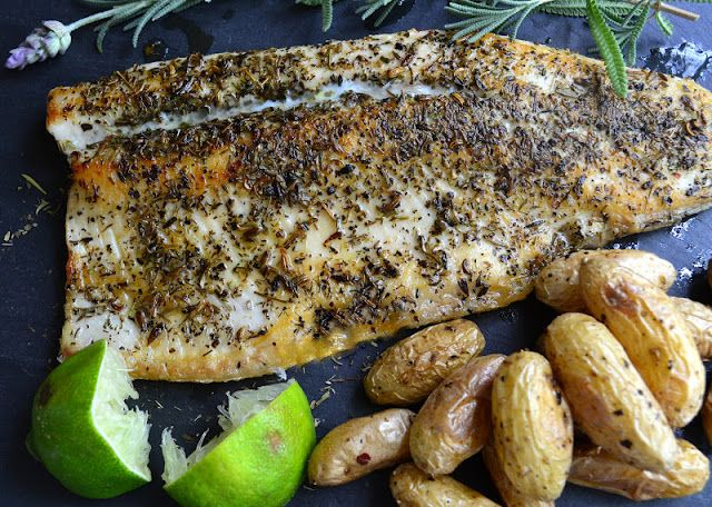 I've said it before, but when there's no plan for dinner, I almost always turn to fish. I didn't intend to post it, but after I got home with my trout fillets last night I happened to check one of my favorite blogs, Thyme, and there it was…dinner, in all its gorgeous simplicity. I even had the Herbes de Provence* leftover from my Provencal Tomatoes. Pure serendipity. I didn't change the recipe at all, except to use trout instead of salmon, so my fish cooked right in the pan in a couple of…