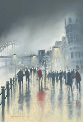 Newcastle Quayside is a great tourist spot, with points of interest including the Baltic Art Centre, the Sage, Live Theatre and the Metro Radio Arena. It is the vibrant heart of Newcastle/Gateshead, the area acts as a magnet for visitors as they can be sure to enjoy themselves. Limited edition print