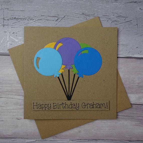 Personalised birthday card Happy Birthday card Birthday