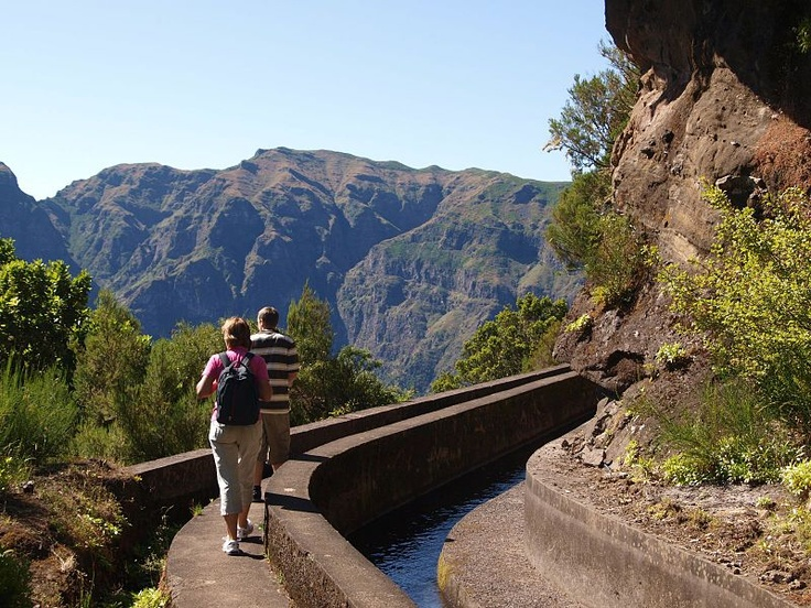 Hiking along a Levada in Medeira - wikipedia