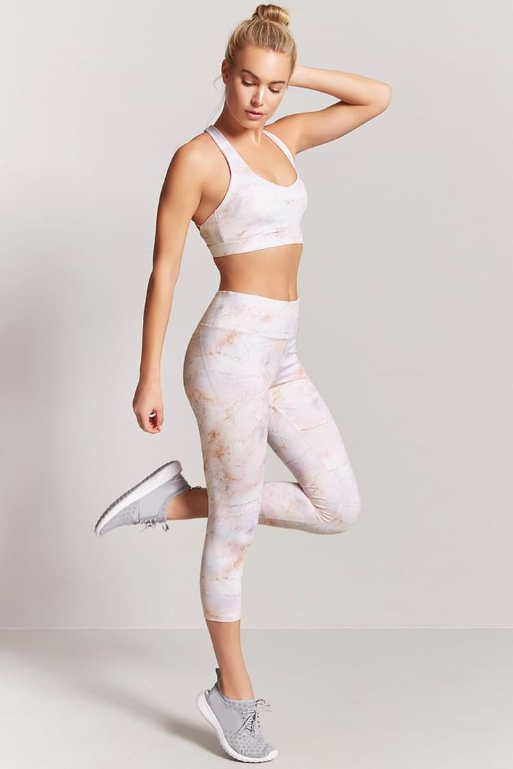 Product Name:Active Marble Print Capri Leggings, Category:Activewear, Price:19.9