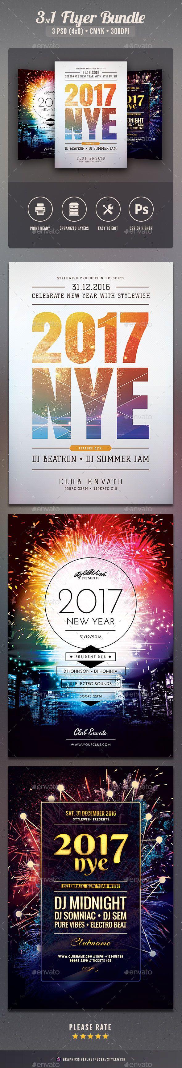 New year Flyer Bundle. Download: https://graphicriver.net/item/new-year-flyer-bundle-vol08/19208603?ref=thanhdesign