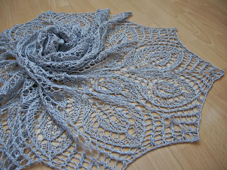 Knitted lace shawl Hand knit delicate soft airy triangular wedding shawl silver grey shawl ready to ship summer shawl cotton viscose wrap by mammyrests on Etsy