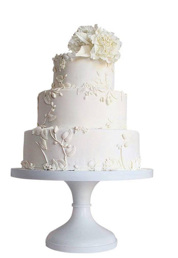 "The ""All White Everything"" Wedding Cake - Maggie Austin Pinterest@Sagine_1992 Sagine☀️"