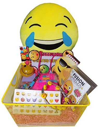 OMG - LOL Ultimate Emoji Tween Girls Gift Basket - Perfect for Easter Basket, Christmas, Birthdays, Graduation, or Other Occasion! Artistix Designs Gift Baskets http://www.amazon.com/dp/B0128J4ZMY/ref=cm_sw_r_pi_dp_hEC4wb1ZS33YK