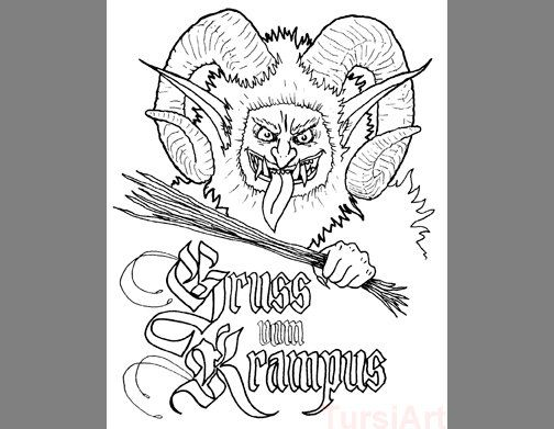 Image Result For Krampus Coloring Pages