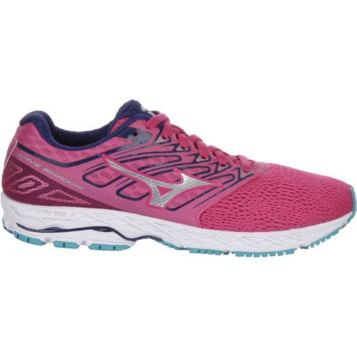 Mizuno Women's Wave Shadow Running Shoes (Pink Bright/Turquoise or Aqua, Size 9.5) - Women's Running Shoes at Academy Sports