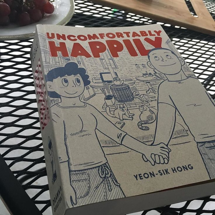 Enjoying Yeon-Sik Hong's UNCOMFORTABLY HAPPY on the back porch (thanks @drawnandquarterly) -- kind of a perfect read for right now having just moved from Brooklyn to a peaceful corner of Denver Colorado. In Uncomfortably Happy Yeon-Sik and his wife move from Seoul to the mountains in an effort to clear their heads from the busy clamor of the big city. It's a sweet story but a complicated one as Yeon-Sik and his wife struggle with balancing their own shortcomings with the necessary…