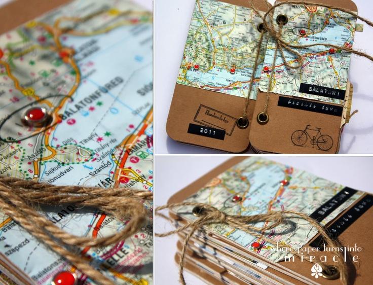 scrapbook travel mini album by Réka
