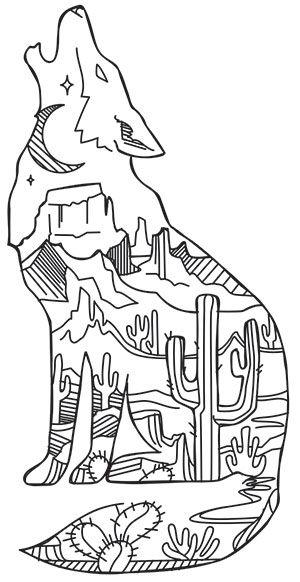 Desert Scene Coyote Design Uth18798 From Urbanthreads Com
