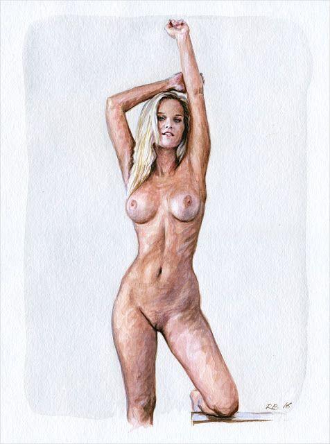 Etude de nu à l'aquarelle #160172... #Art #Artiste
