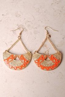 orange bliss earrings.