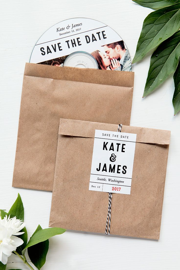 diy cd wedding invitations%0A Save the Date CD