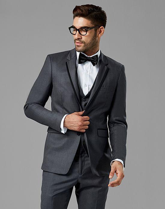 3a2fb0871b9a Generation Tux Charcoal Gray Notch Lapel Tux Wedding Tuxedo - The Knot