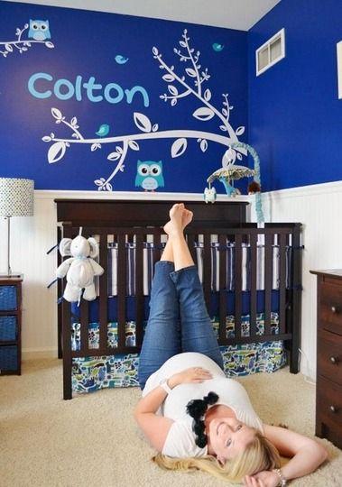 Colton's Bright Blue Room
