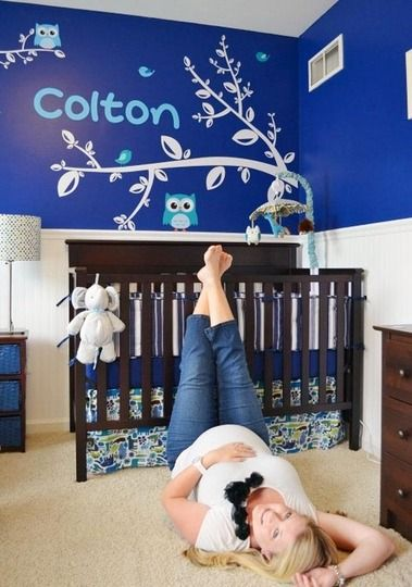 Colton's Bright Blue Room