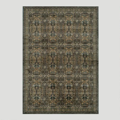 Light blue stained glass rug 311 x 57 100 polypropyl