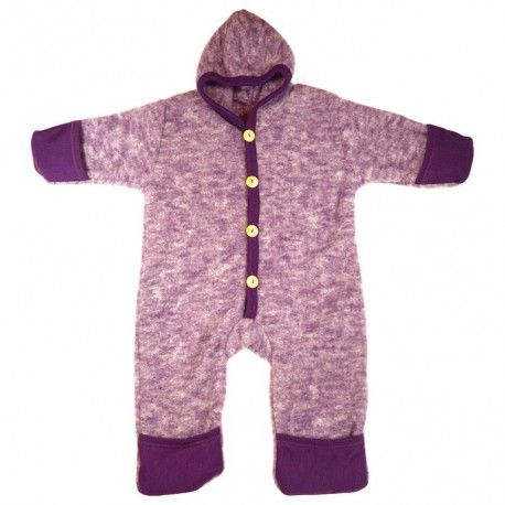 Wool suit 100% merino wool, purple melange, Cosilana