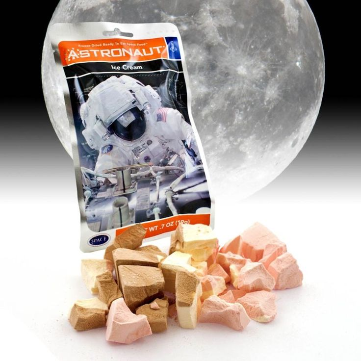 A giant leap for snack-kind! Originally made for the Apollo Space Missions, freeze-dried Astronaut Ice Cream has been a firm favourite with would-be space cadets.  Freeze dried and ready to eat, these delicious snacks have been frozen to -40C, vacumn dried and sealed in special space pouches, by the same people that still supply space food to NASA. Literally out of this world, the Astronaut Ice Cream melts in the mouth and can be eaten straight out of the pack.