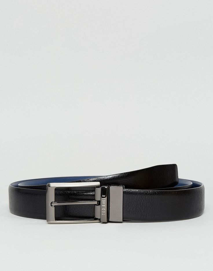 Ted Baker Hoffman 4 Way Reversible Belt Gift Set in Leather - Black