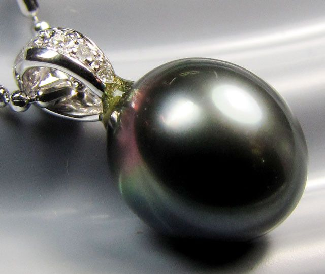 FRE SHIPPING EXCLUSIVE BLACK  TAHITIAN PEAL GOLD  PENDANT TP 4 pearl pendant , black pearls