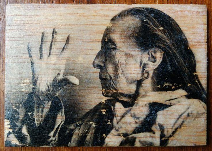 Louise Borgeoise - Photo transfer on wood. Handmade.