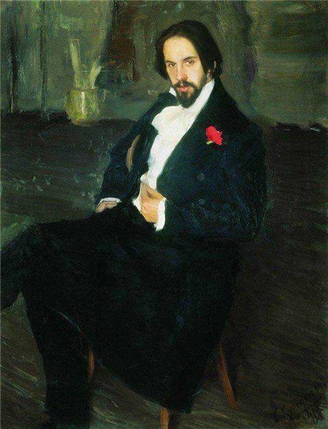 Кустодиев Б.М. Портрет И.Я.Билибина 1901 г.