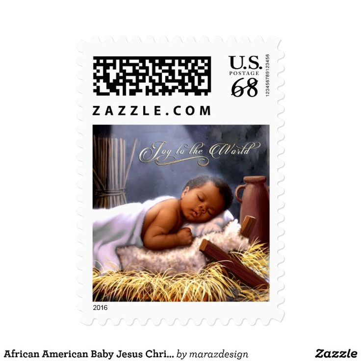 African American Baby Jesus Christmas Stamps Zazzle Com
