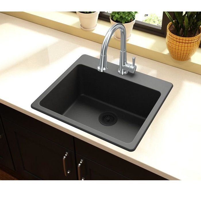 Workstation 25 Drop In Undermount 16 Gauge Stainless Steel Single Bowl Kitchen Sink Bar Sink Stainless Steel Kitchen Sink Sink