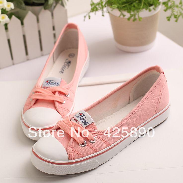 NEW Designer Canvas Flats Shoes Women Different Fashion Shoes Plus Size Sneaker Shoes Platform ...