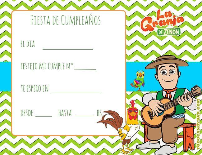 Granja De Zenon Invitaciones De Cumpleanos Tarjetas De