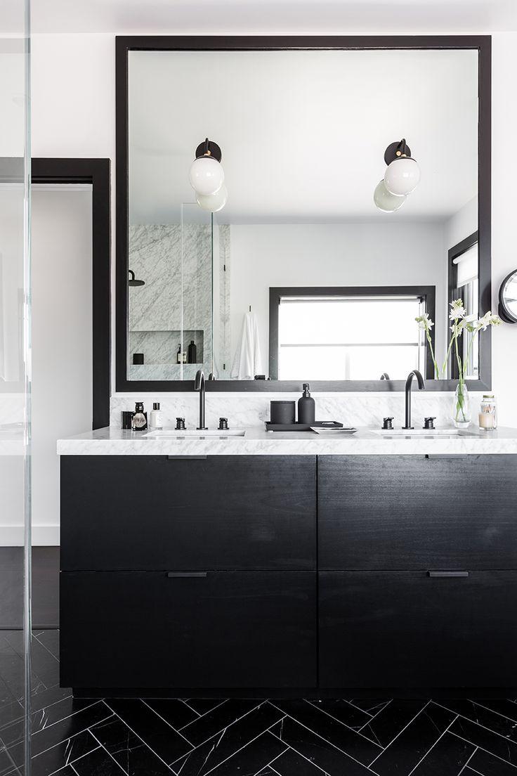 Etienne de souza designer and manufacturer of luxury cabinet - San Francisco Apartment Interior Design Bathroom Double Vanity Nicolehollis Photo By Laure