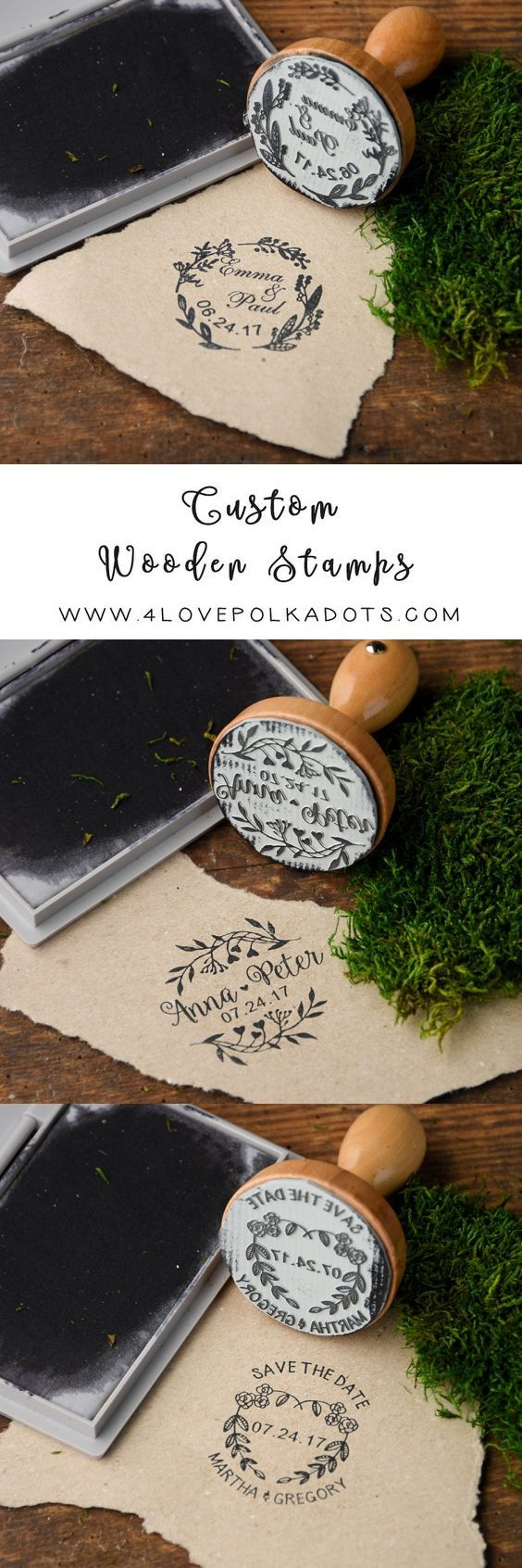 Rustic country wood wedding stamps #rusticwedding #countrywedding