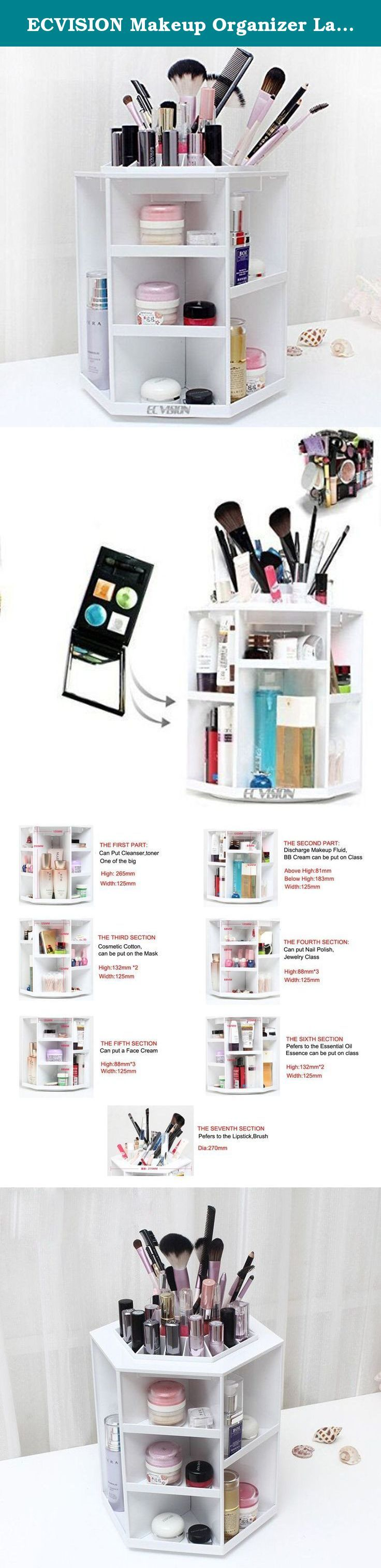 ECVISION Makeup Organizer Large Capacity 360°Rotating Acrylic Cosmetics Storage/Revolving Makeup Organizer/Cosmetics Storage Case (White). This is a extremely wonderful design for all women,it with the most beautiful comfortable and convenient design,it is easy to operate.The makeup organizer with 360°Rotating bottom, you can get whichever cosmetics you want, just rotating it. Can be removable and easy to carry.The design is novel and lighter, The Acrylic Cosmetics Storage can bear the…