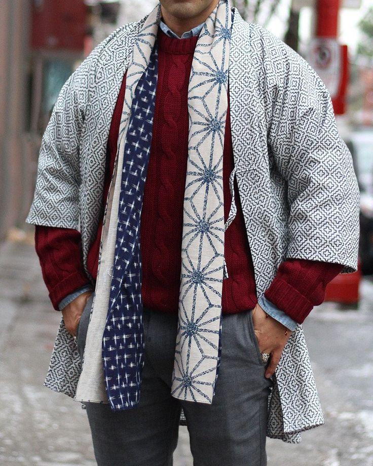Kendo Jacket, White Hitomezashi | Kiriko Made
