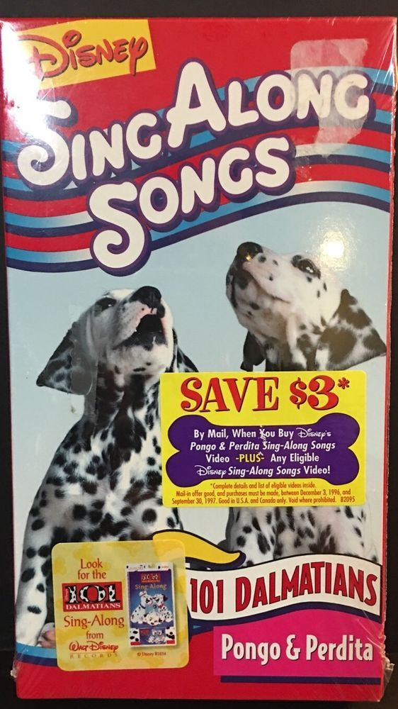 Disneys Sing Along Songs - 101 Dalmatians: Pongo and Perdita (VHS, 1996) 786936014754   eBay