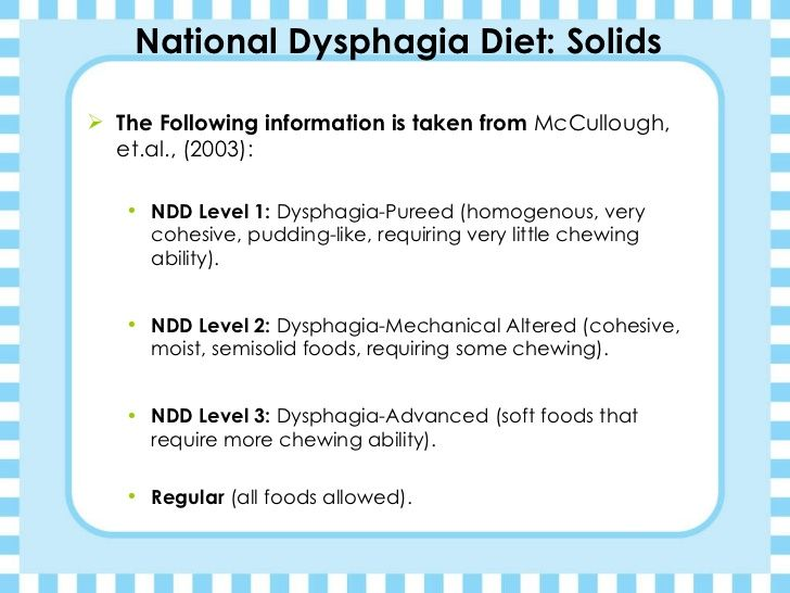 Kimberly Jones Dysphagia Diets Presentation Dysphagia Diet Dysphagia National Dysphagia Diet