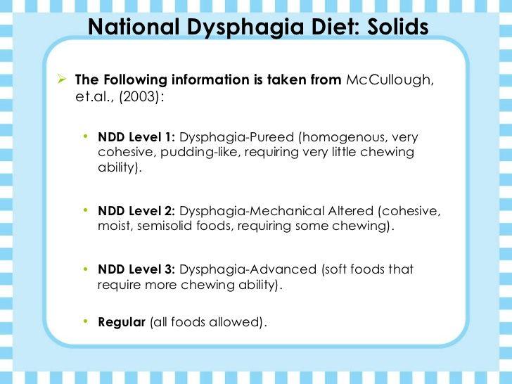 Kimberly Jones Dysphagia Diets Presentation Dysphagia Diet National Dysphagia Diet Dysphagia