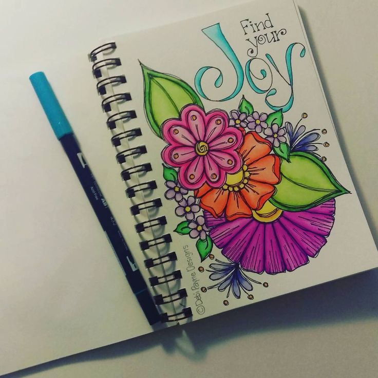 Find your Joy!  #watercolors #tombow #doodleart #motivation #happyart #handlettering #debipaynedesigns
