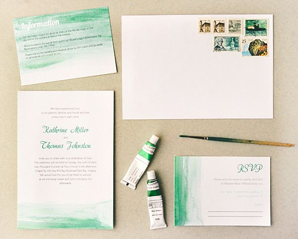 Printable Watercolor Wedding Stationery....Gorgeous! A little DIY, but a little effort goes a long way :-)