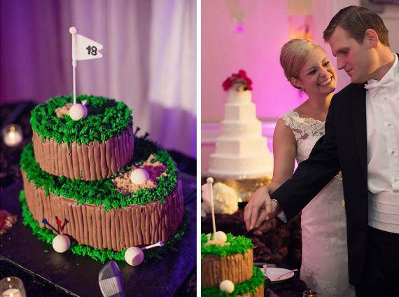 Sports wedding ideas: golf themed grooms cake