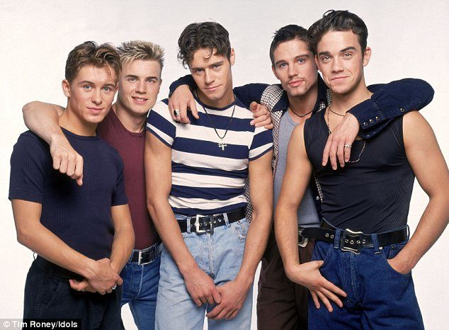 The way they were: Take That started off with five members, (L-R), Mark Owen, Gary Barlow,...