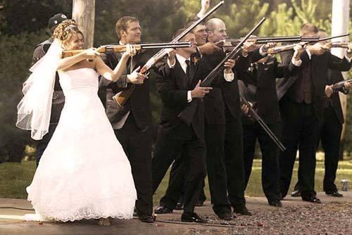 Now this is my idea of a shot gun wedding